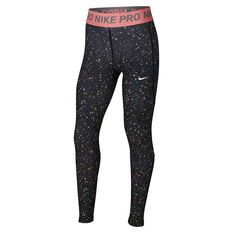 Nike Pro Girls Printed Training Tights Black / Print XS, Black / Print, rebel_hi-res