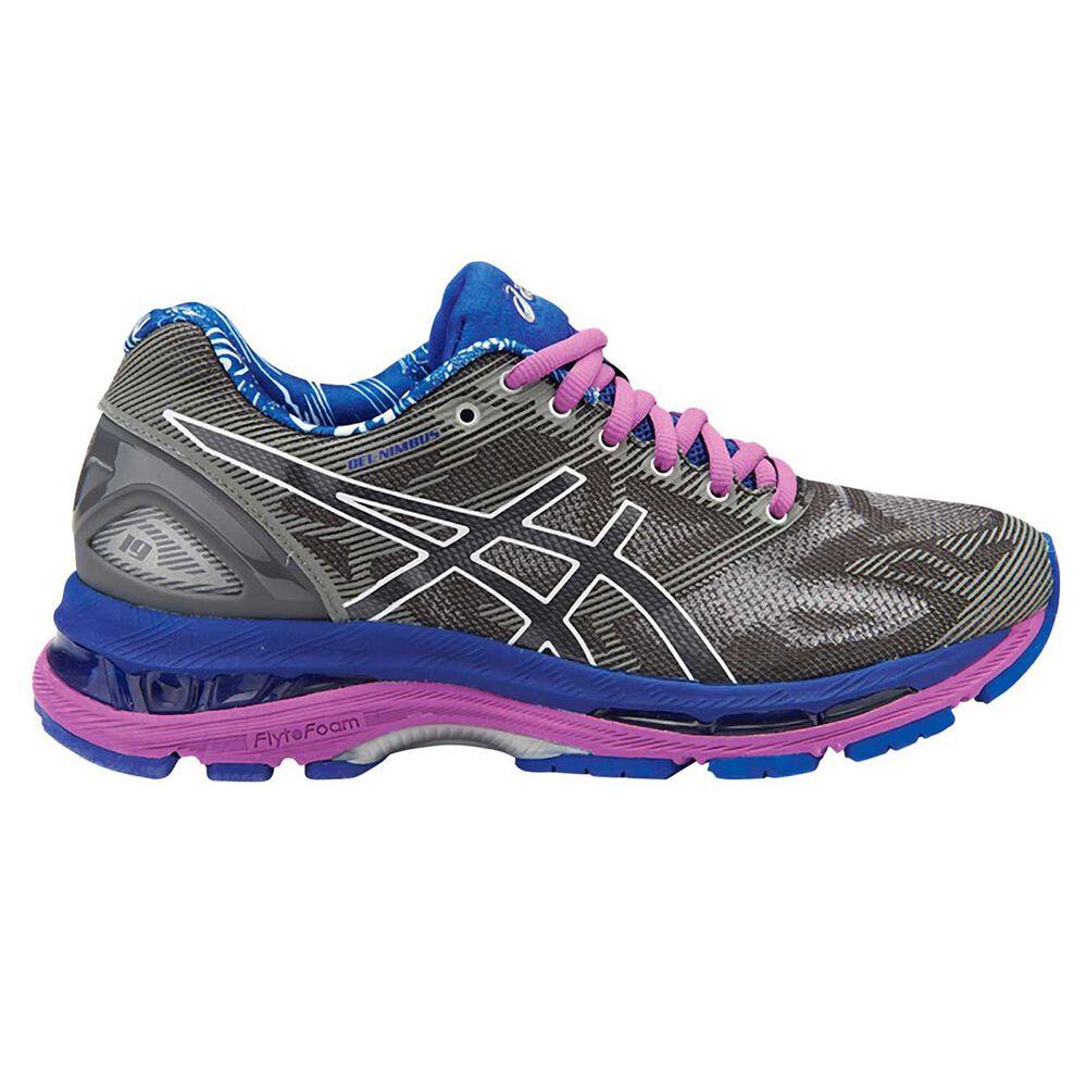9f32c1b43f11 Asics Gel Nimbus 19 Lite Show Womens Running Shoes Grey   Purple US ...
