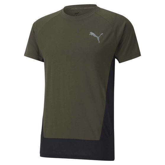 Puma Mens Evostripe Training Tee, Green, rebel_hi-res