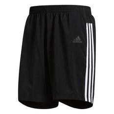 26556d879 adidas Mens 3 Stripes Running Shorts Black   White S