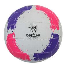 Netball Australia Netball White / Multi 5, White / Multi, rebel_hi-res