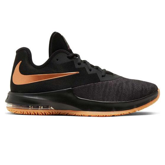 Nike Air Max Infuriate III Low Mens Basketball Shoes, Black / Grey, rebel_hi-res