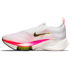 Nike Air Zoom Tempo Next% Flyknit Mens Running Shoes White/Black US 7, White/Black, rebel_hi-res