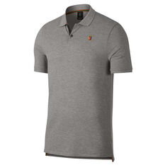 Nike Mens Court Heritage Tennis Polo Grey XS, Grey, rebel_hi-res