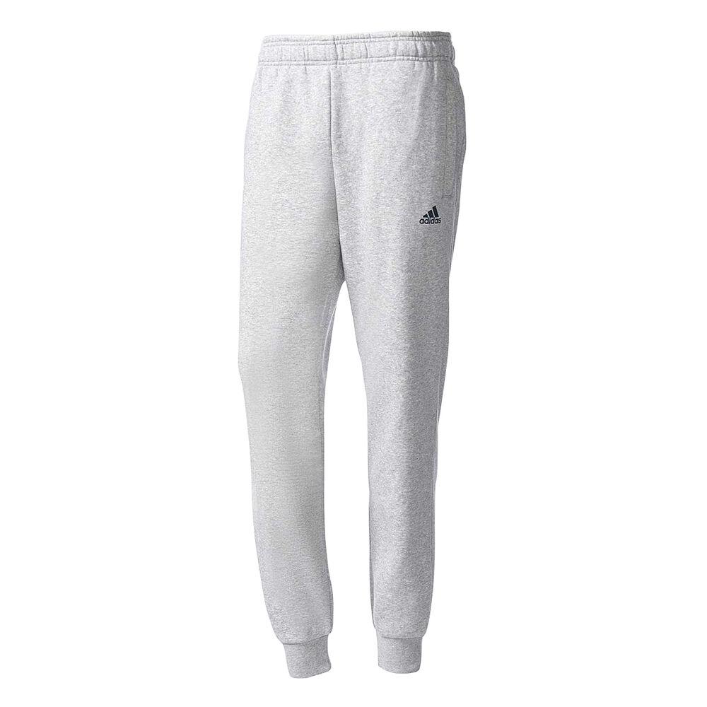 119cf1118219 adidas Mens Essentials Tapered Fleece Pants Grey   Navy S Adult ...