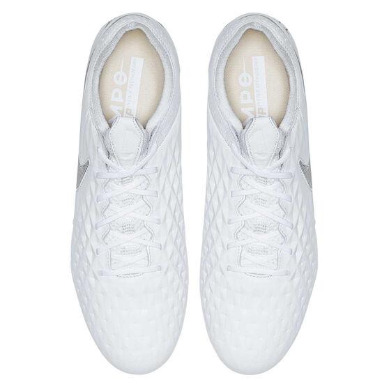 Nike Tiempo Legend VIII Elite Football Boots, White / Grey, rebel_hi-res