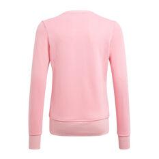 Adidas Girls VF Essential Big Logo Sweatshirt Pink 4, Pink, rebel_hi-res