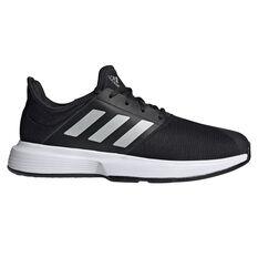 adidas GameCourt Mens Tennis Shoes Black US 8, Black, rebel_hi-res