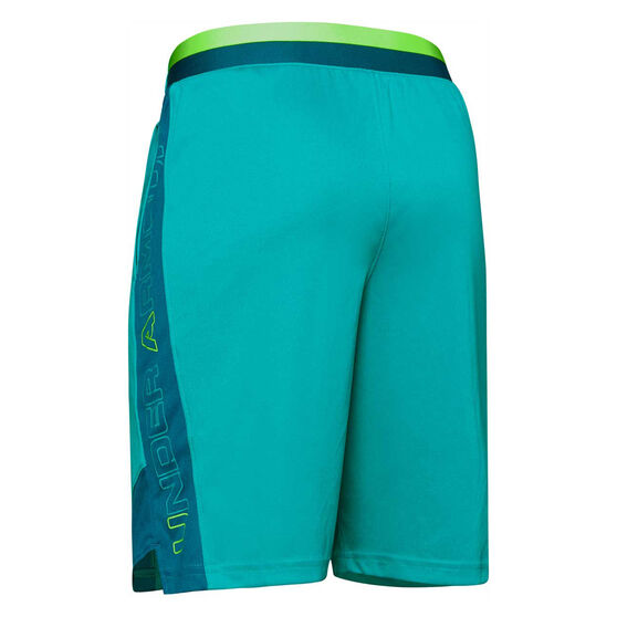 Under Armour Boys Stunt 2.0 Shorts, Blue / Green, rebel_hi-res