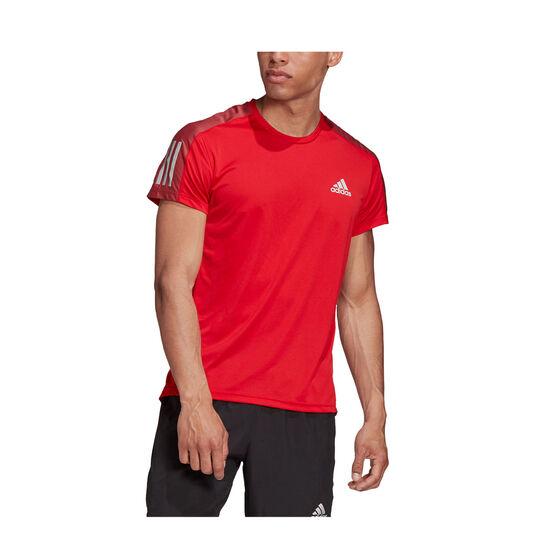 adidas Mens Own The Run Tee, Red, rebel_hi-res