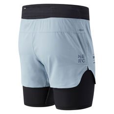 New Balance Mens Q Speed Fuel 2in1 5in Shorts Blue S, Blue, rebel_hi-res