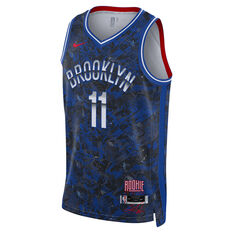 Nike Brooklyn Nets Kyrie Irving 2021 Mens ROY Select Jersey Blue S, Blue, rebel_hi-res