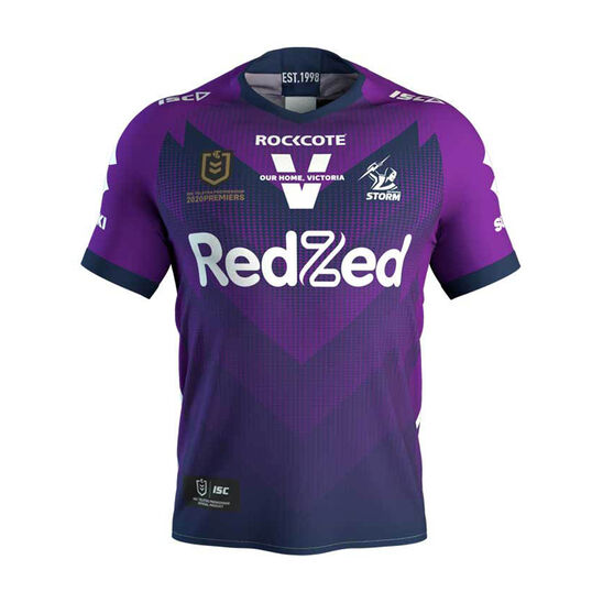 Melbourne Storm 2020 Kids Premiers Jersey Purple 8, Purple, rebel_hi-res