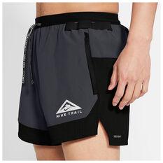 Nike Mens Dri-FIT Flex Stride Trail Shorts, Grey, rebel_hi-res