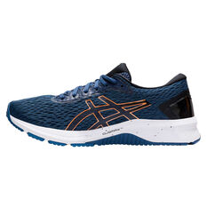 Asics GT 1000 9 2E Mens Running Shoes, Blue / Gold, rebel_hi-res