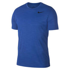 Nike Mens Superset Graphic Training Tee Blue / Navy S, Blue / Navy, rebel_hi-res