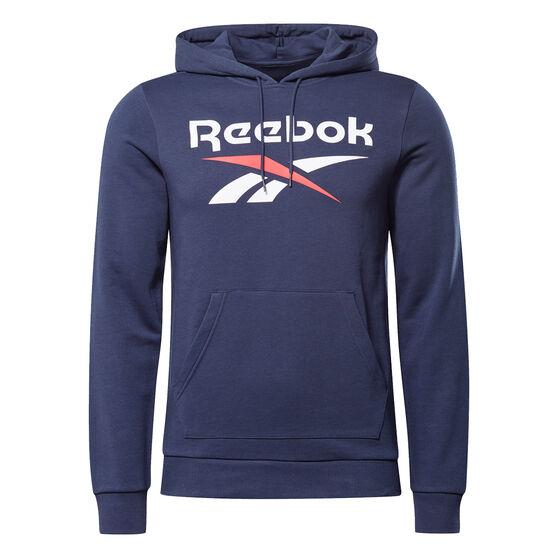 Reebok Mens Identity Big Logo Hoodie, Navy, rebel_hi-res