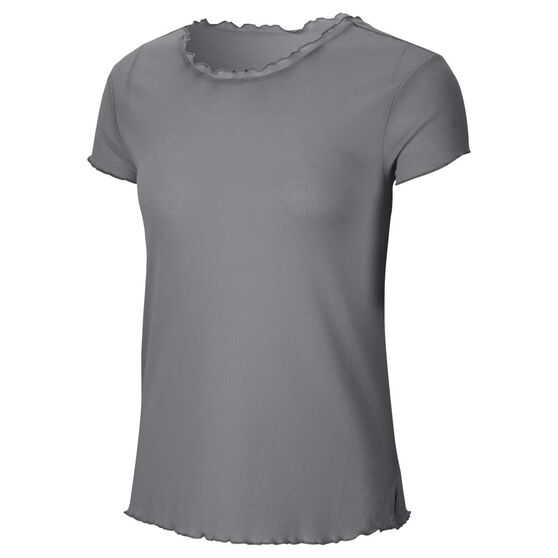 Nike Womens Yoga Tee, Grey, rebel_hi-res