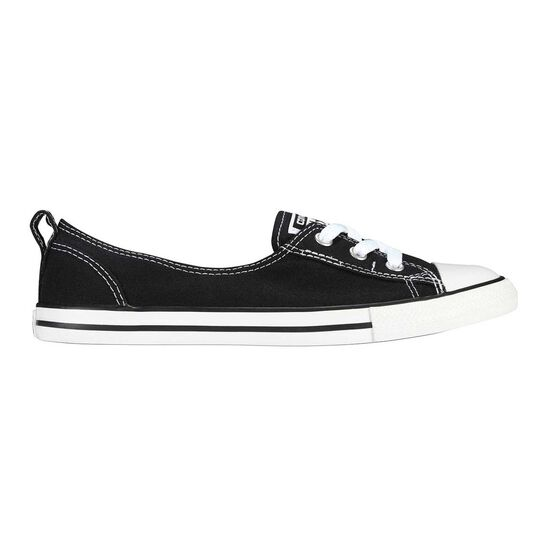 Converse Chuck Taylor All Star Ballet Womens Casual Shoes, Black / White, rebel_hi-res