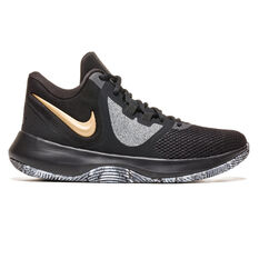 Nike Air Precision II Mens Basketball Shoes Black / Gold US 7, Black / Gold, rebel_hi-res