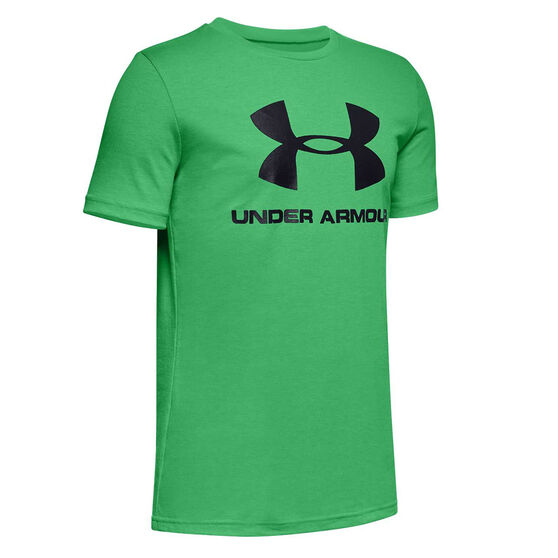 Under Armour Boys Sportstyle Tee Green L, Green, rebel_hi-res