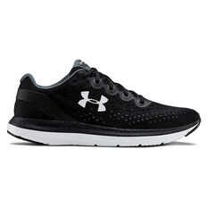 Under Armour Charged Impulse Mens Running Shoes Black / White US 7, Black / White, rebel_hi-res