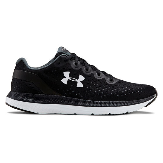 Under Armour Charged Impulse Mens Running Shoes, Black / White, rebel_hi-res