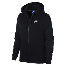 Nike Womens Sportswear Hoodie Black / White XS Adult, Black / White, rebel_hi-res
