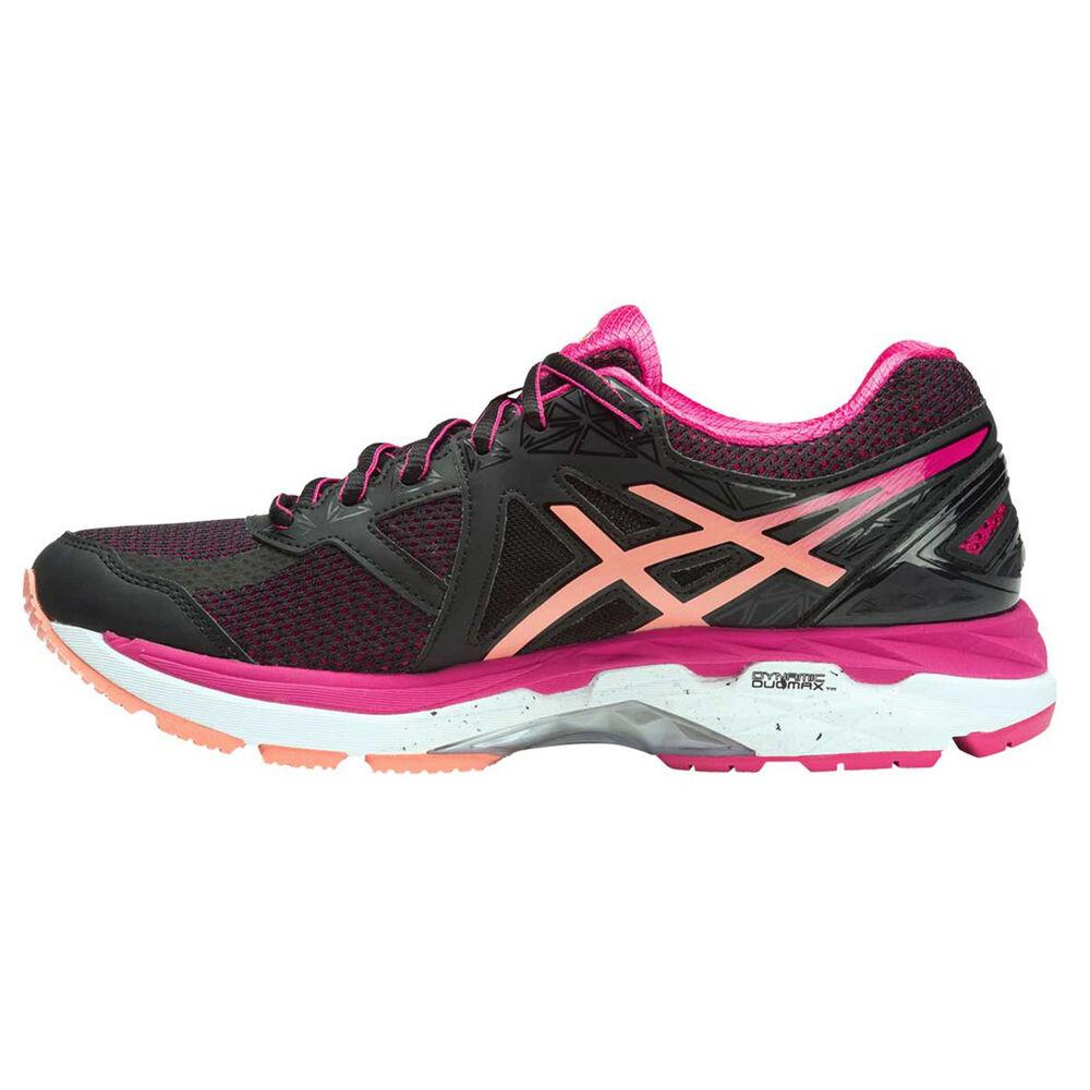 ec906ce3f36a Asics GT 2000 4 D Womens Running Shoes Black   Orange US 8.5