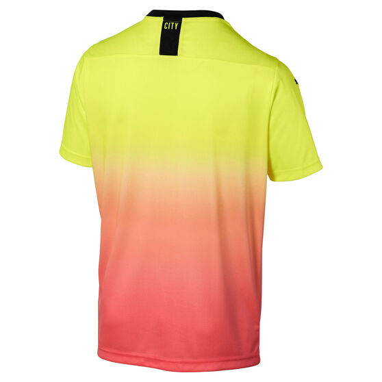 Manchester City FC 2019/20 Mens 3rd Jersey, Yellow / Pink, rebel_hi-res