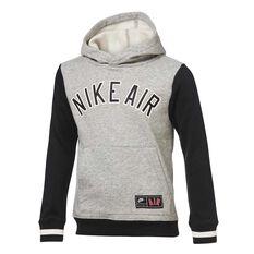 Nike Air Boys Pull Over Hoodie Grey/Black 4, , rebel_hi-res