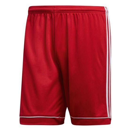 e2152ba17 adidas Mens Squadra 17 Football Shorts, Red / White, rebel_hi-res