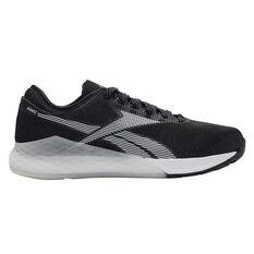 Reebok Nano 9 Womens Training Shoes Black / White US 6, Black / White, rebel_hi-res