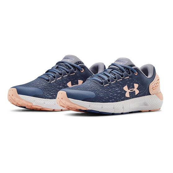 Under Armour Charged Rogue 2 Kids Running Shoes, Blue/Pink, rebel_hi-res