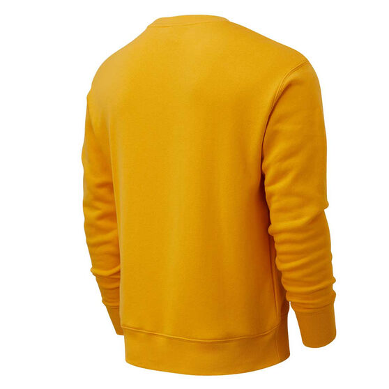 New Balance Athletics Mens Varsity Sweatshirt Yellow L, , rebel_hi-res