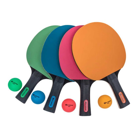 Terrasphere 4 Player Coloured Bat Table Tennis Set, , rebel_hi-res