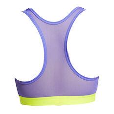 Nike Womens Swoosh Icon Clash Sports Bra Blue XS, Blue, rebel_hi-res