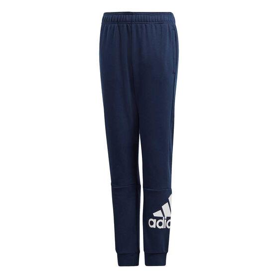adidas Boys Must Haves Badge of Sport Pants Navy / White 16, , rebel_hi-res