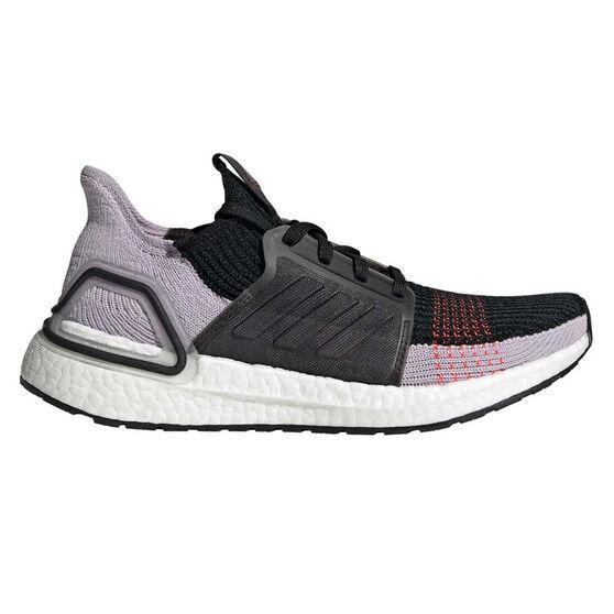 adidas Ultraboost 19 Womens Running Shoes, Black / Red, rebel_hi-res