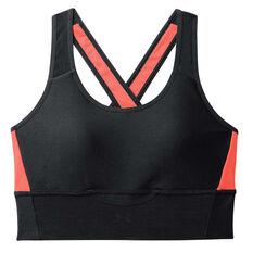 Under Armour Womens Armour Crossback Clutch Sports Bra Black XS, Black, rebel_hi-res