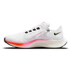 Nike Air Zoom Pegasus 38 FlyEase Mens Running Shoes White/Black US 7, White/Black, rebel_hi-res