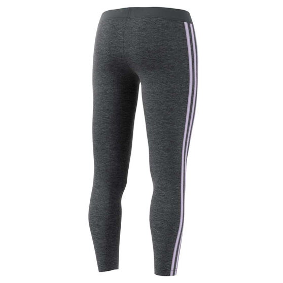 adidas Womens Essentials 3 Stripes Tights, Grey, rebel_hi-res