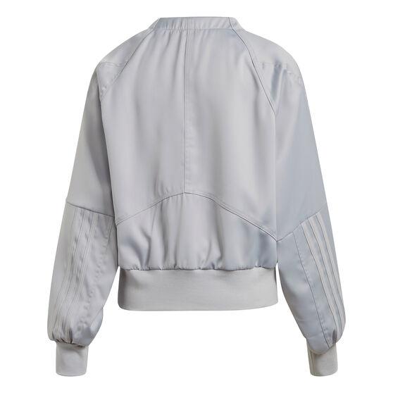 adidas Womens Glam On Bomber Jacket, Grey, rebel_hi-res