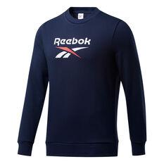 Reebok Mens Vector Sweatshirt Navy S, Navy, rebel_hi-res