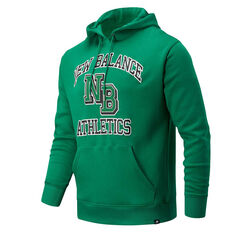New Balance Athletics Mens Varsity Hoodie Green S, Green, rebel_hi-res