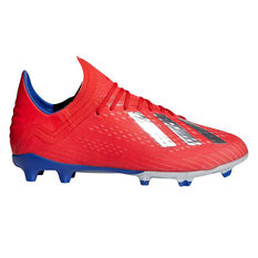 hot sale online ff0ab 5ca6b adidas X 18.1 Kids Football Boots Red  Silver US 2, Red  Silver, ...