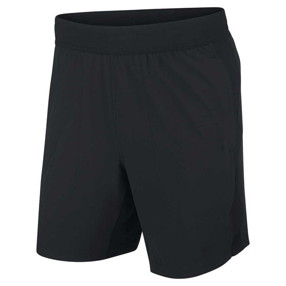Nike Mens Flex Active Yoga Training Shorts Black S, Black, rebel_hi-res