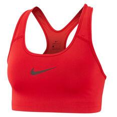 Nike Womens Swoosh Sports Bra Red XS, Red, rebel_hi-res