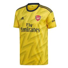 Arsenal FC 2019/20 Mens Away Jersey Gold / Black S, Gold / Black, rebel_hi-res