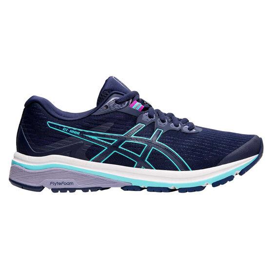 Asics GT 1000 8 D Womens Running Shoes, Blue, rebel_hi-res